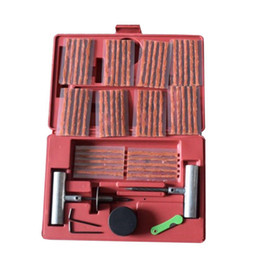 tire patch kit 2019 - 57PCS Tire Repair Kit DIY Flat Tire Repair Car Truck Motorcycle Home Plug Patch Car Tyre Kit Car-styling Auto cheap tire