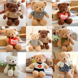 ScarfS bearS online shopping - High Quality CM Teddy Bear With Scarf Stuffed Animals Bear Plush Toys Teddy Bear Doll Lovers Baby Birthday Gift
