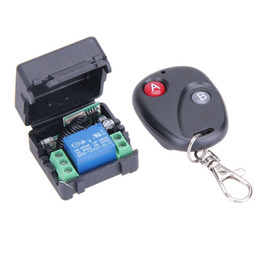 Wholesale Universal Wireless Remote Control Switch DC V A mhz Telecomando Transmitter With Receiver For Anti Theft Alarm System