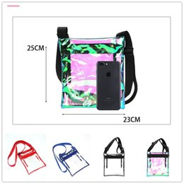 Handbag Plastic Transparent Bag Australia - Transparent Laser TPU Shoulder Bag Women Girls Dazzling Plastic Messenger Handbag Colorful Travel Beach Holographic Crossbody Bag Hot A41801