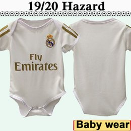 jersey soccer real Australia - 19 20 Real Madrid Baby HAZARD MODRIC Soccer Jerseys New SERGIIO ISCO RAMOS KROOS BENZEMA MARCELO Home White Football Shirts BALE Infant