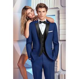 Royal Blue Yellow Suits Australia - Latest Coat Pant Designs royal Blue Men Wedding Suits Groomsmen costume homme Slim Fit Tuxedo Custom mens Suit Blazer Masculino