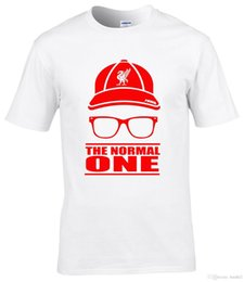 Lowest Price White Shirts Australia - Jurgen Klopp the normal one t shirt adults,kids cap & glasses white t shirt Low Price Round Neck Men Tees shirts