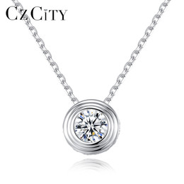 $enCountryForm.capitalKeyWord Australia - PAG&MAG Classic Clear Cubic Zirconia Delicate Round Pendant with Italy Box Chain Women Necklace New 2018 Fine Jewelry