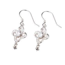 4f17bcec5e15 Ganchos pendientes de flores de plata esterlina online-Plata esterlina 925  mujeres pendientes de gota