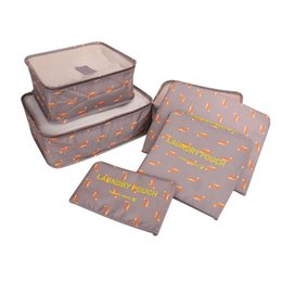 types set clothes Australia - High-grade 6pcs set Suitcase Organizer Koffer Organizer Sets Luggage Laundry Pouch Packing Set Storage Bag for Clothes