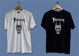 Black Shirt Loose Skull Australia - Cotton Loose Shirts Trivium Skull Men'S Graphic Short-Sleeve Tees