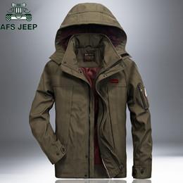 Plus Size Windbreaker Jackets Australia - Afs Jeep Windproof Waterproof Military Jacket Coat 2018 Casual Hooded Spring Autumn Jackets Mens Plus Size 4xl Windbreaker Coat T2190615
