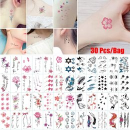 Cover sCar tattoos online shopping - 30 Patterns Set Long Lasting Waterproof Temporary Tattoo Stickers Removable Body Art Water Transfer Flowers Tattoos Cover Scars