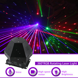 laser stage lens NZ - 360 Degree 11 Lens RGB Rotating Laser Move Beam Gobos Light DMX Professional Bar Party Gig Disco Show DJ Stage Lighting 360R