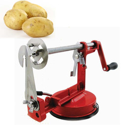 potato chips chopper Australia - Food Chopper Vegetable Cutter Manual Stainless Steel Twisted Potato Apple Slicer Spiral French Fry Cutter Potato chip machine