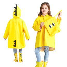1657ccb0e Dropship Fashion Waterproof Kids Rain Coat For Children Raincoat Rainwear  Rainsuit Kids Boy Girl Dinosaur Animal Style Raincoat