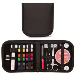 $enCountryForm.capitalKeyWord Australia - 27Pcs Set Portable Sewing Box Kit DIY Hand Sewing Tool Accessory Bag Organizer Needles Thread Stitching Scissors for Work