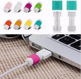 Venta al por mayor de Cargador de datos USB Protector de cable protector para iPhone 7 6 plus 5se ipad Cables USB Enchufe del cargador Cable Cable cubierta protectora