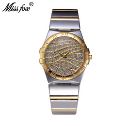 $enCountryForm.capitalKeyWord Australia - Miss Fox Female Watches Women Wrist Luxury 2017 Hot Ladies Watch Gold With Stones Famous Brands With Logo Fashion Casual Watches Y19062703