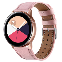 genuine watches NZ - 42mm smart watch Band For Samsung Galaxy Active Genuine Leather Band Strap The first layer of leather round tail leather strap Unisex