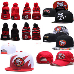 EmbroidErEd logos hats online shopping - 2019 new Francisco winter beanies er Adjustable Hats Embroidery San Team Logo Snapback All Team Wholeasle Knit warm outdoor Caps
