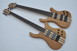 custom electric bass guitars NZ - Factory custom Elm body Electric Bass Guitar with 3 Active Pickups,Black Hardware,Rosewood fingerboard,Neck through body,offer customized