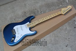 2020 de calidad superior Venta al por mayor stratocaster Diapasón de arce Guitarra eléctrica Mano izquierda cuello Guitarra eléctrica en venta