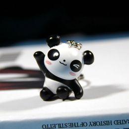 Panda bonito chaveiro chaveiro pingente dos desenhos animados criativo pequeno saco de boneca panda atividade pendurada pequeno presente venda por atacado