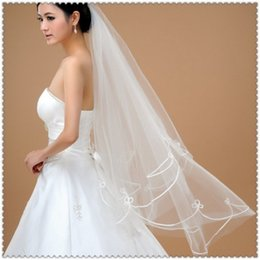 cut edge veils UK - Special Offer One-Layer Pencil Edge White Ivory Cheap In Stock New Fashion Tulle Wedding Veil
