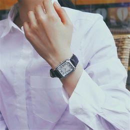 Men New Style Watches Australia - New Fashion Classical Style Rectangular Dial Watches Men Women Casual Ladies Business Men Dress Leather Quartz Wristwatch
