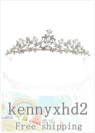 korean zircon accessories UK - 2020Dinner Jewellery H1113 Korean alloy Rhinestone zircon bridal crown delicate zircon wedding birthday crown accessories