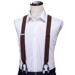 $enCountryForm.capitalKeyWord Australia - Hi Tie Fashion Suspenders Leather Alloy 6 Clips Braces Male Vintage Y Shape Elastic Suspensorio Trousers Strap Mens Gift BH-1002