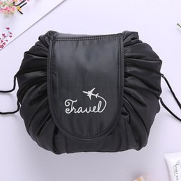 Wholesale Pillow Packs Australia - 2019 New Fashion Cosmeltic Bags Toiletry Bag Lazy Makeup Bag Quick Pack Waterproof Travel Print Drawstring Storage Cosmetic Bags