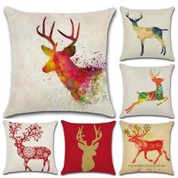$enCountryForm.capitalKeyWord Australia - 6 Designs Fancy Deer Pattern 45*45cm Household Linen Cushion Covers Bedroom Set Christmas Gifts Home Decor Party Decoration
