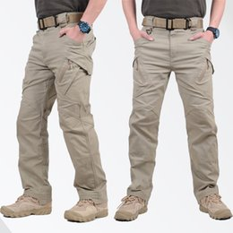 Hot Military Trousers Australia - Hot Sale IX9 Tactical Men Pants Combat Trousers SWAT Army Military Pants Men Cargo Trousers For Men Military Style Casual Pants