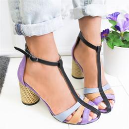 $enCountryForm.capitalKeyWord Australia - Puimentiua Sandalias Mujer 2019 Strap Heel Peep Toe Chunky Heel Sandals Vintage Slip On Elastic Bandage Elegant Platform Sandals
