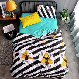 Black White Rose Bedding Australia - bedding set King Queen size Classic AB side Pastoral duvet cover bed linen 4pcs set Pillowcase Sheet&duvet cover 2019 bed