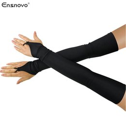 Over glOves online shopping - Ensnovo Women quot Stretchy Lycra Fingerless Over Elbow Opera Long Gloves costume cosplay dance party