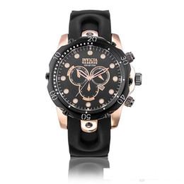 $enCountryForm.capitalKeyWord NZ - 2018 New INVICTA Wristwatch Swiss Stainless Steel Rose Gold Quartz Watch Men Sport Military DZ Watches Silicone Strap Army Calendar Clock