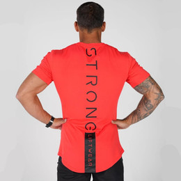 gym apparel UK - Casual Cotton Print t shirt Men Gyms Fitness Short sleeve T-shirt Male Bodybuilding Workout Tees Tops Summer New Clothes Apparel CX200707