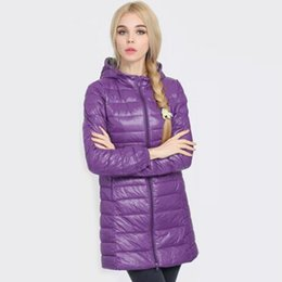 knit hats women patterns UK - Down Parka 2019 New Brand Winter Down Jacket Women Long White Duck Down Jacket Outwear Ultralight Hooded Thin Hat Coat 6XL 7XL