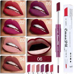 Lipstick pen makeup online shopping - Matte Lipstick Lip Pencils Double end in1 Waterproof Lip Liner Lipstick Makeup Pen Colors Make Up Tools RRA1222