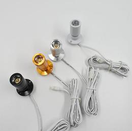 venda por atacado 1W shell prata casca preta ouro shell Mini LED Spot Light Gabinete DC12V branco ou aquecer armário LED branco downlight RoHS CE