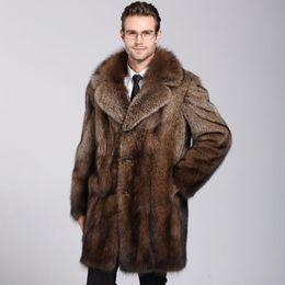 Vente en gros Nouveau manteau de vison mâle à l'automne et l'hiver 2018
