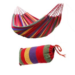 Discount garden hanging chairs - Double 200x160cm Garden Swings Outdoor Camping Hammock Indoor Hanging Chair Bed Portable Rope For Children Adult