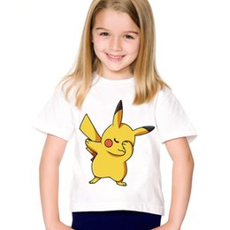 0a8568a20 Children Cartoon Print Dabbing Pikachu Funny T-shirts Kids Summer Tees good  Go Great Tops Baby Clothes For Boys Girls,HKP5105
