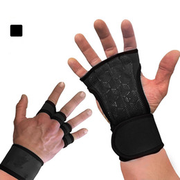 wristband guard Australia - Weightlifting fitness semi finger gloves, sports hand guards, wristbands, dumbbells, Gym Gloves, riding wrist sleeve