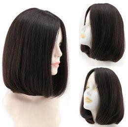 $enCountryForm.capitalKeyWord NZ - 10A Dark Brown 2 Brazilian Virgin Human Hair Silky Straight Bob 4x4 Silk Base Jewish Wigs Kosher Wigs The Best Sheitels Free Shipping