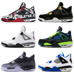 $enCountryForm.capitalKeyWord NZ - Best Quality Jumpman 4s 2019 Bred White Cement Cactus Jack Toro Bravo Basketball Shoes Men 4 Tattoo Fire Red Singles Day Sneakers