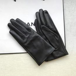 Fashion- Damen Handschuhe echten Leder-Winter-warme Fluff Frau weiche weibliche Pelz-Futter Hochwertige Fäustlinge im Angebot