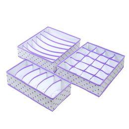 $enCountryForm.capitalKeyWord UK - 3PCS Set Dividers Case Durable Scarf Clothes Underwear Storage Box Drawer Wardrobe Bra Tie Foldable Organizer