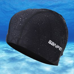 $enCountryForm.capitalKeyWord Australia - New 2019 Elastic Waterproof Nylon Fabric Protect Ears Long Hair Sports Swim Pool Hat Swimming Cap Free size for Men Women Adults