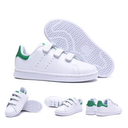 5e788572e Novas crianças smith crianças pai-filho sapatos casuais para o bebê menino  menina fashion stan sneaker branco multi running trainer ao ar livre sapato  22-35