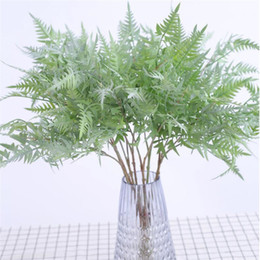 "plastic greenery NZ - Fake Fern Leaf Greenery (2 stems piece) 22.83"" Length Simulation Plastic Green Plant for Wedding Home Decorative Artificial Plants"